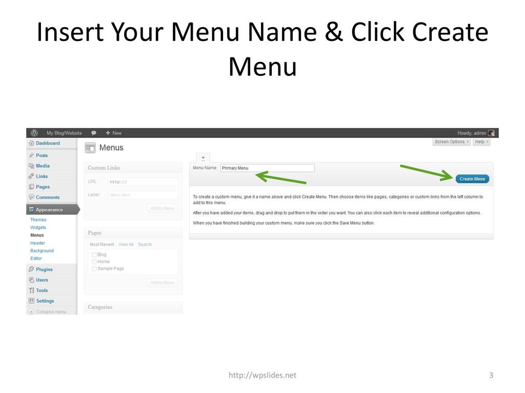 Insert Your Menu Name & Click Create Menu 3 htt...