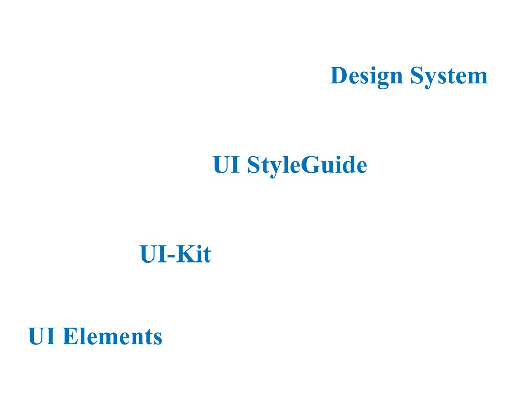 UI StyleGuide Design System UI-Kit UI Elements