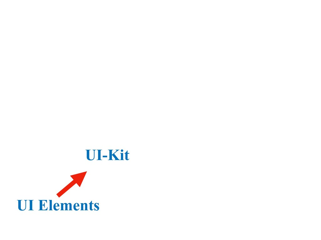 UI-Kit UI Elements