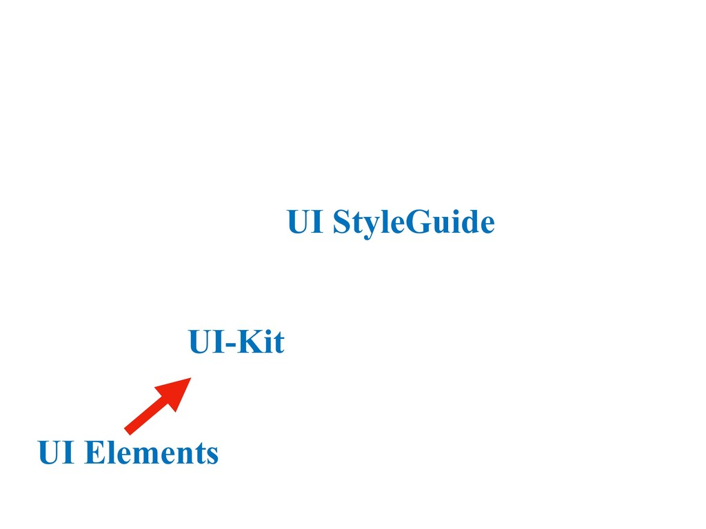 UI StyleGuide UI-Kit UI Elements