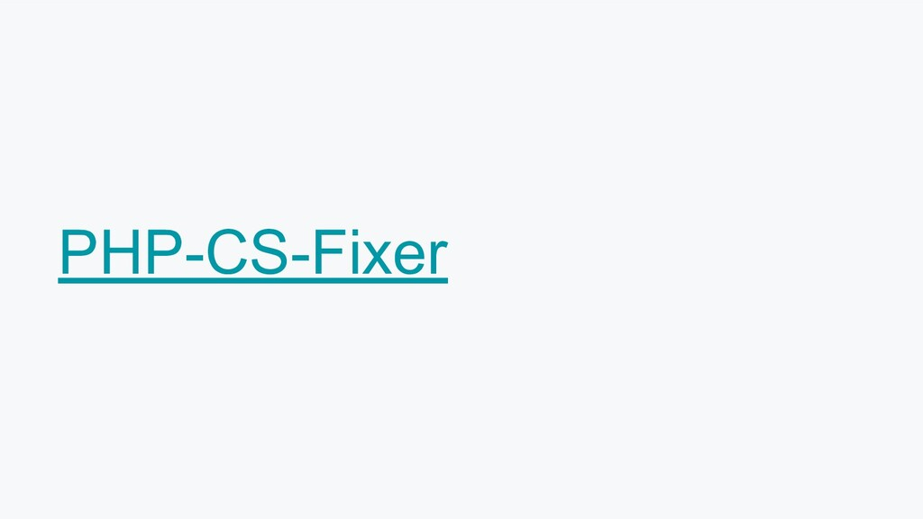 PHP-CS-Fixer