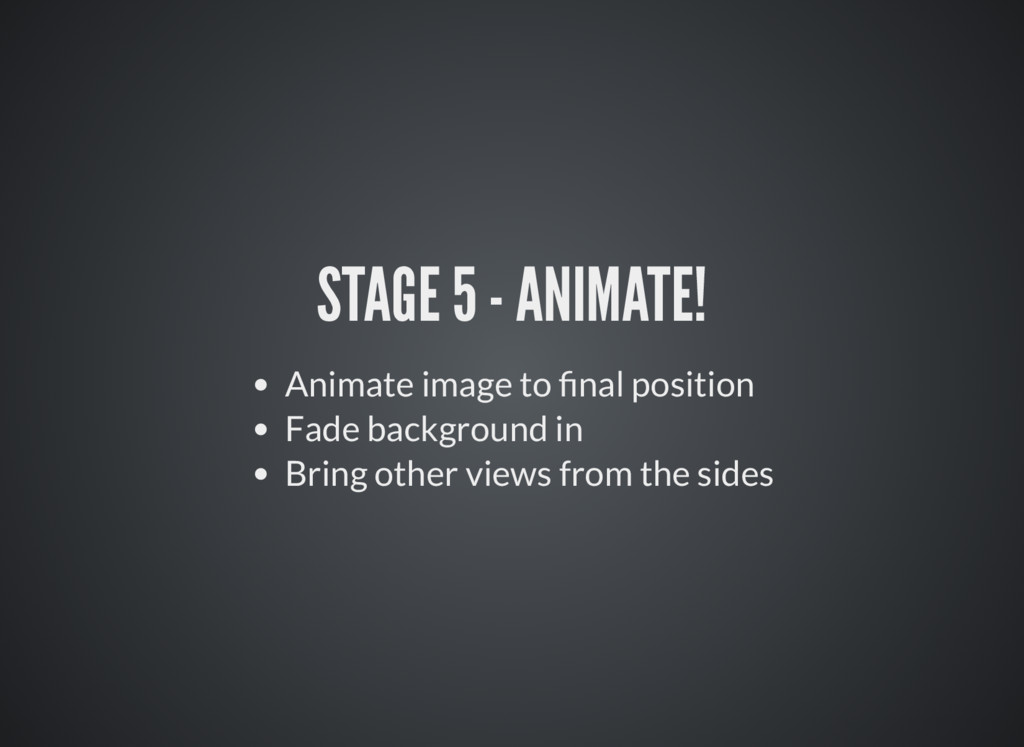 STAGE 5 - ANIMATE! Animate image to nal positio...
