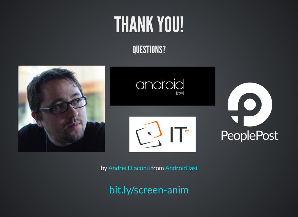 THANK YOU! QUESTIONS? by from Andrei Diaconu An...