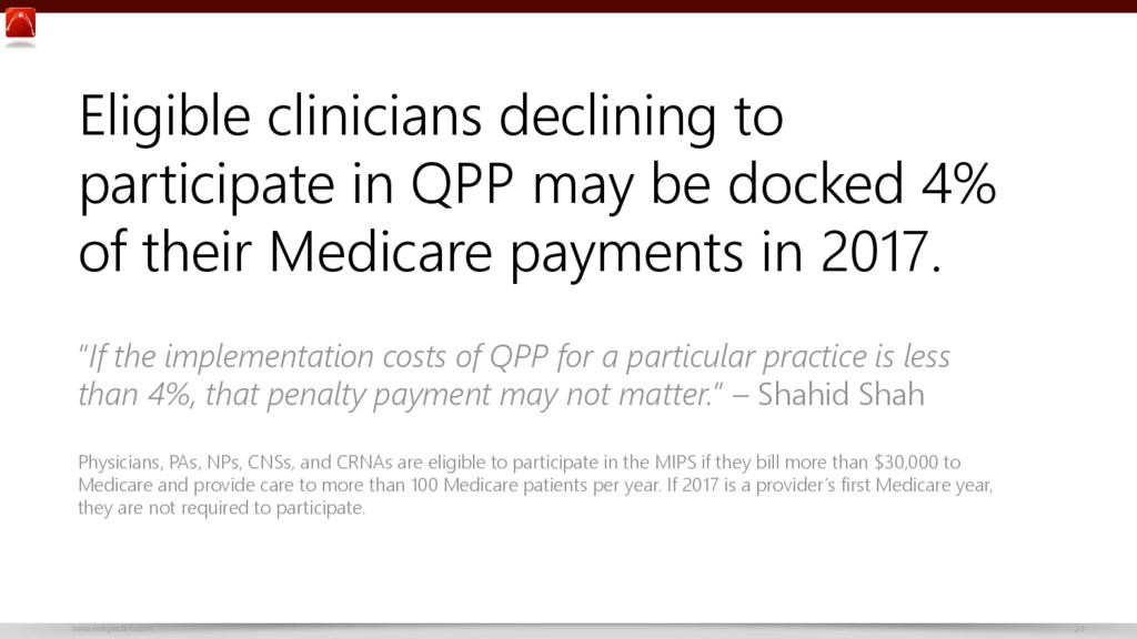www.netspective.com 20 Eligible clinicians decl...