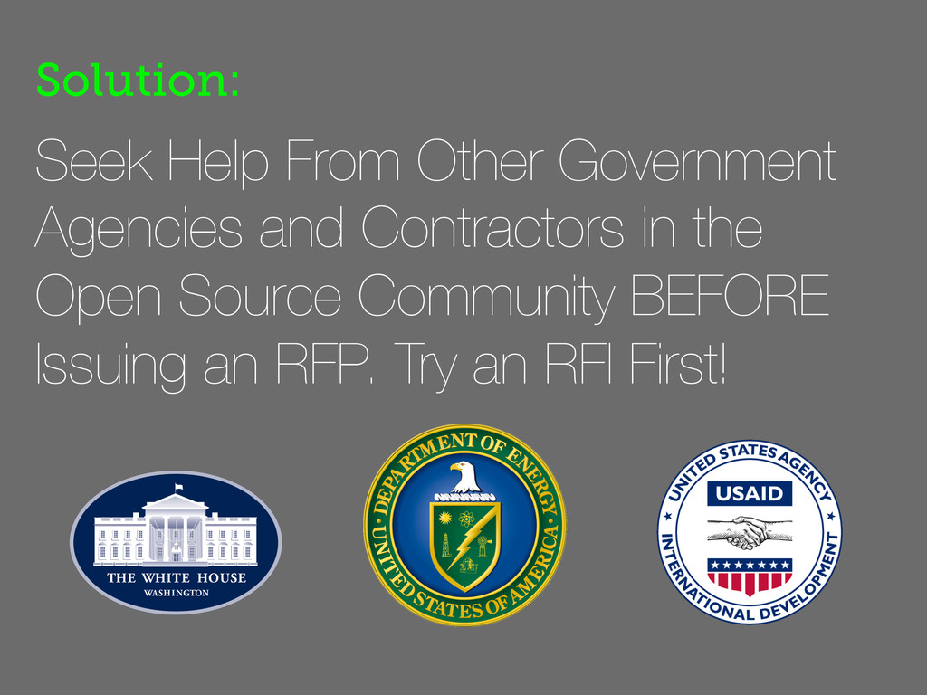 Seek Help From Other Government Agencies and Co...
