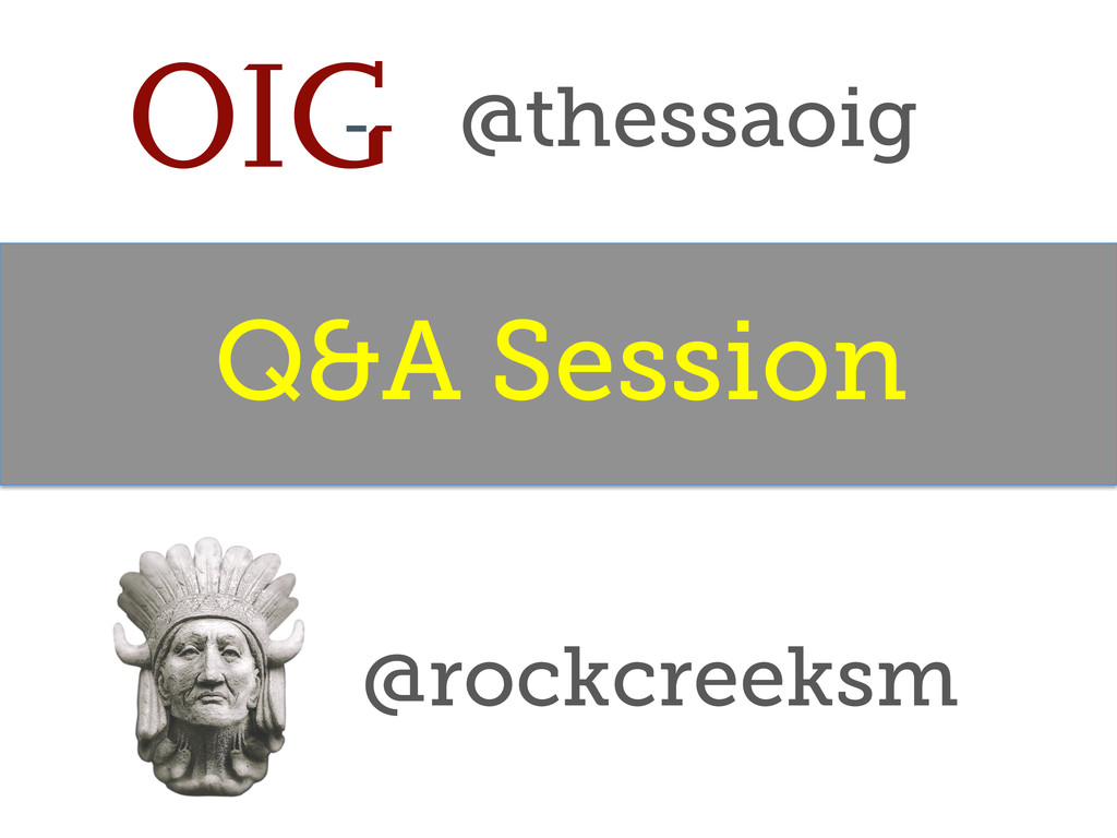 Q&A Session @rockcreeksm @thessaoig