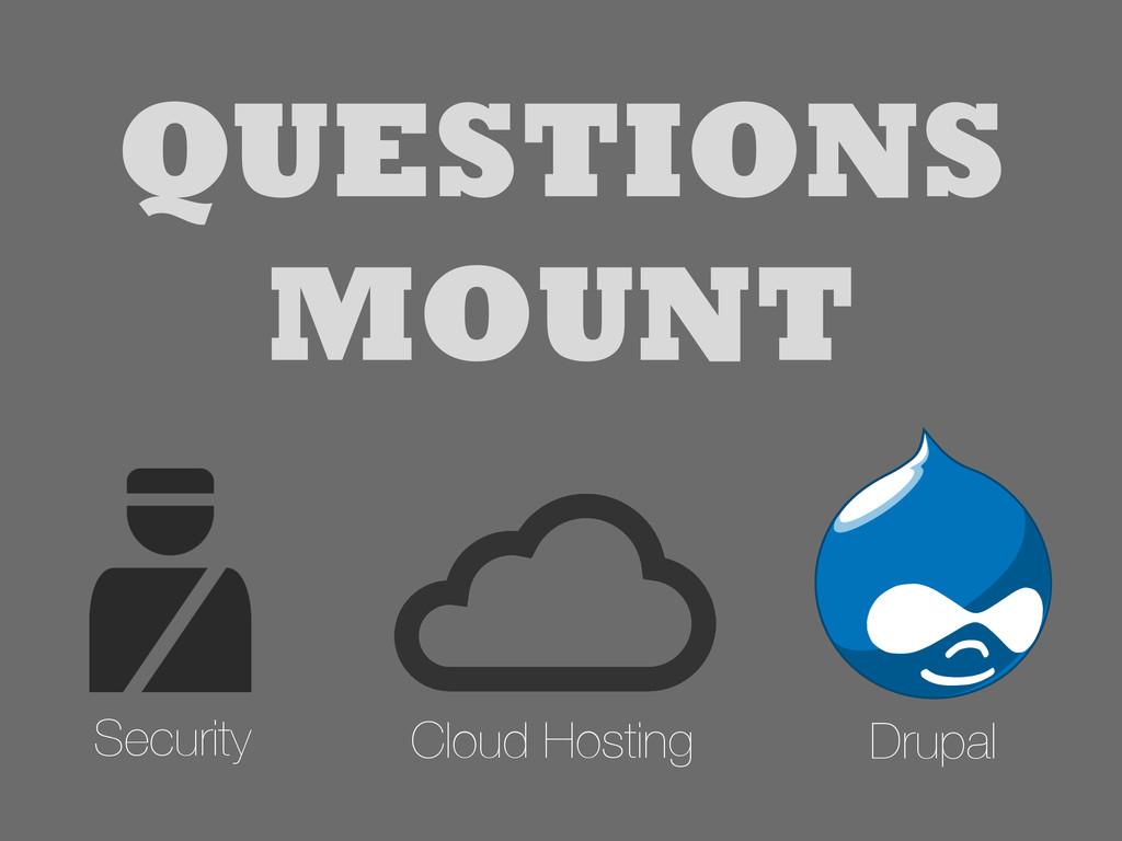 Drupal Security Cloud Hosting QUESTIONS MOUNT