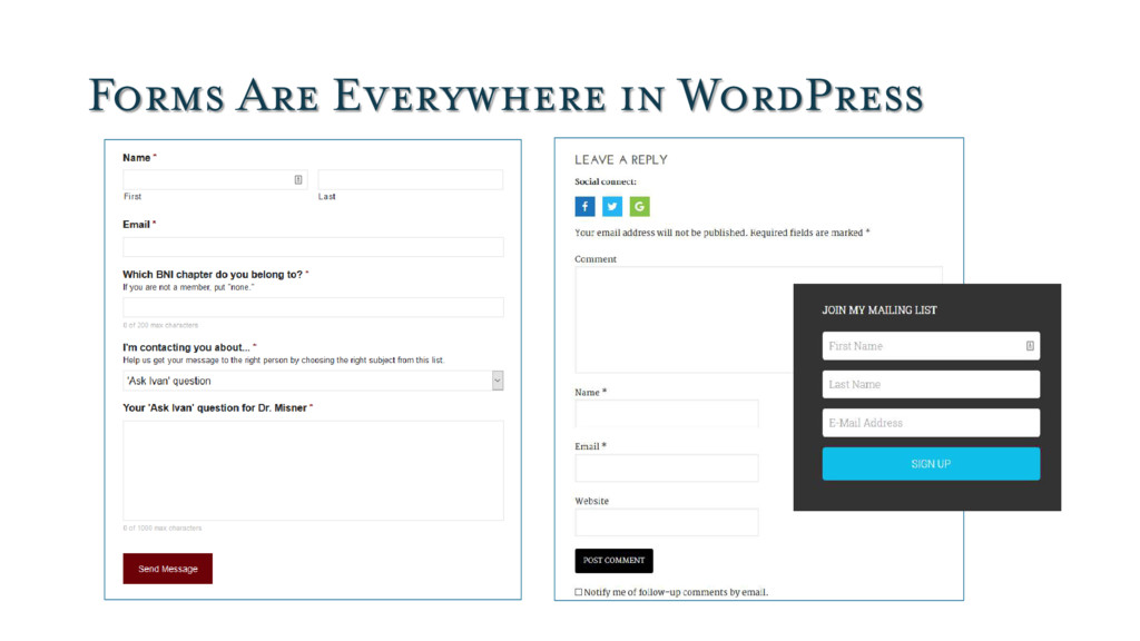Forms Are Everywhere in WordPress