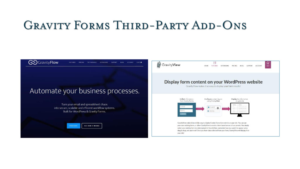 Gravity Forms Third-Party Add-Ons