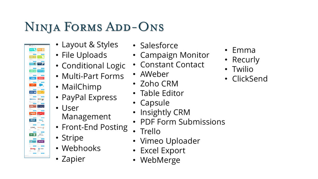 Ninja Forms Add-Ons • Layout & Styles • File Up...