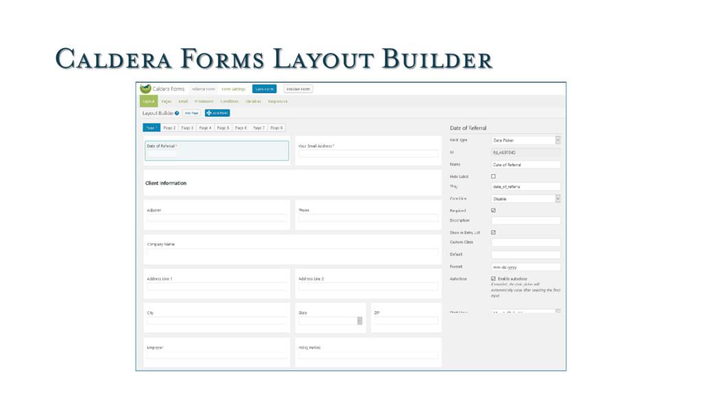 Caldera Forms Layout Builder