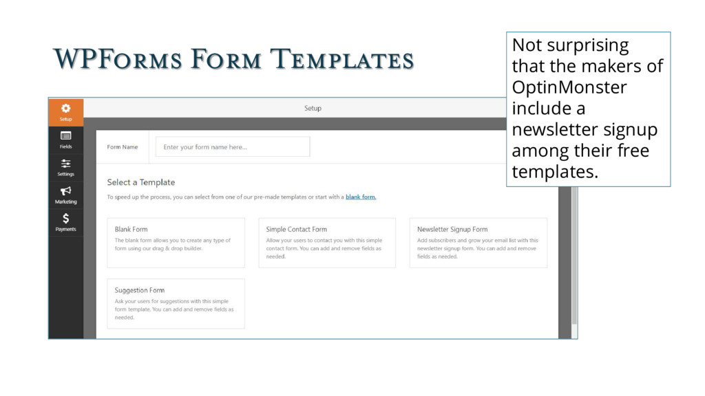 WPForms Form Templates Not surprising that the ...