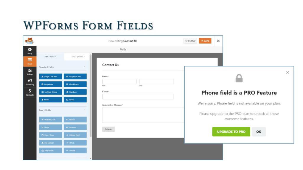 WPForms Form Fields