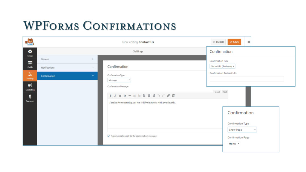 WPForms Confirmations