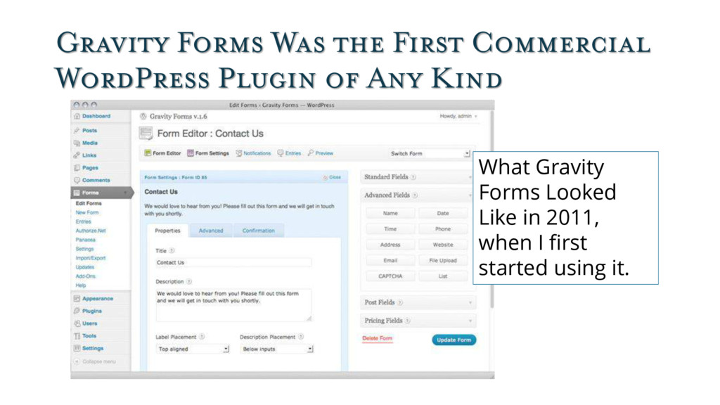 Gravity Forms Was the First Commercial WordPres...