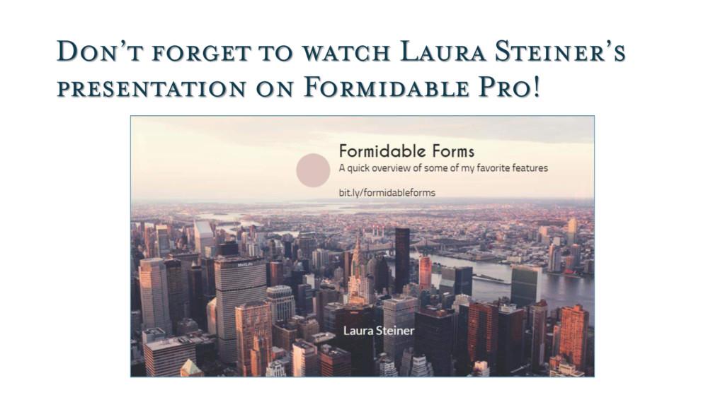 Don't forget to watch Laura Steiner's presentat...