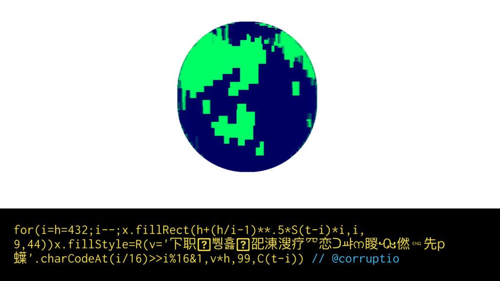 for(i=h=432;i--;x.fillRect(h+(h/i-1)**.5*S(t-i)...
