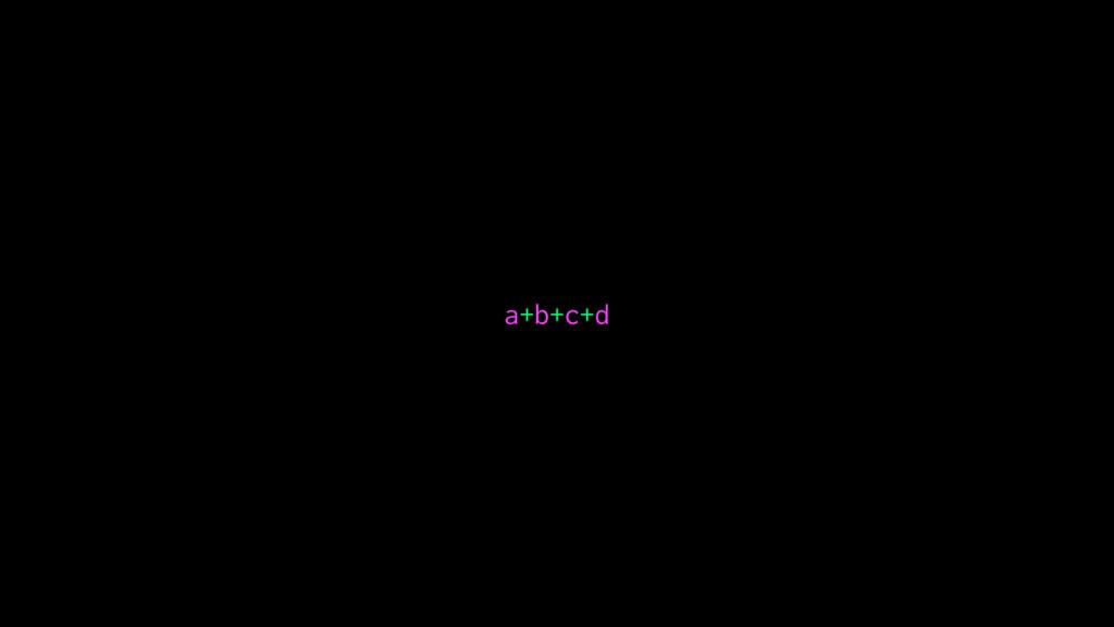 a+b+c+d