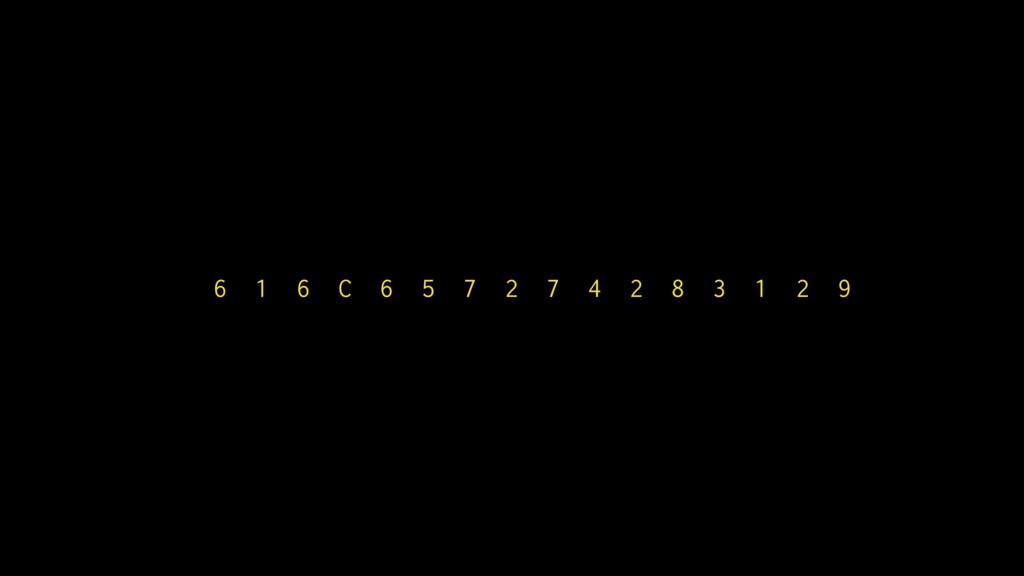 6 1 6 C 6 5 7 2 7 4 2 8 3 1 2 9