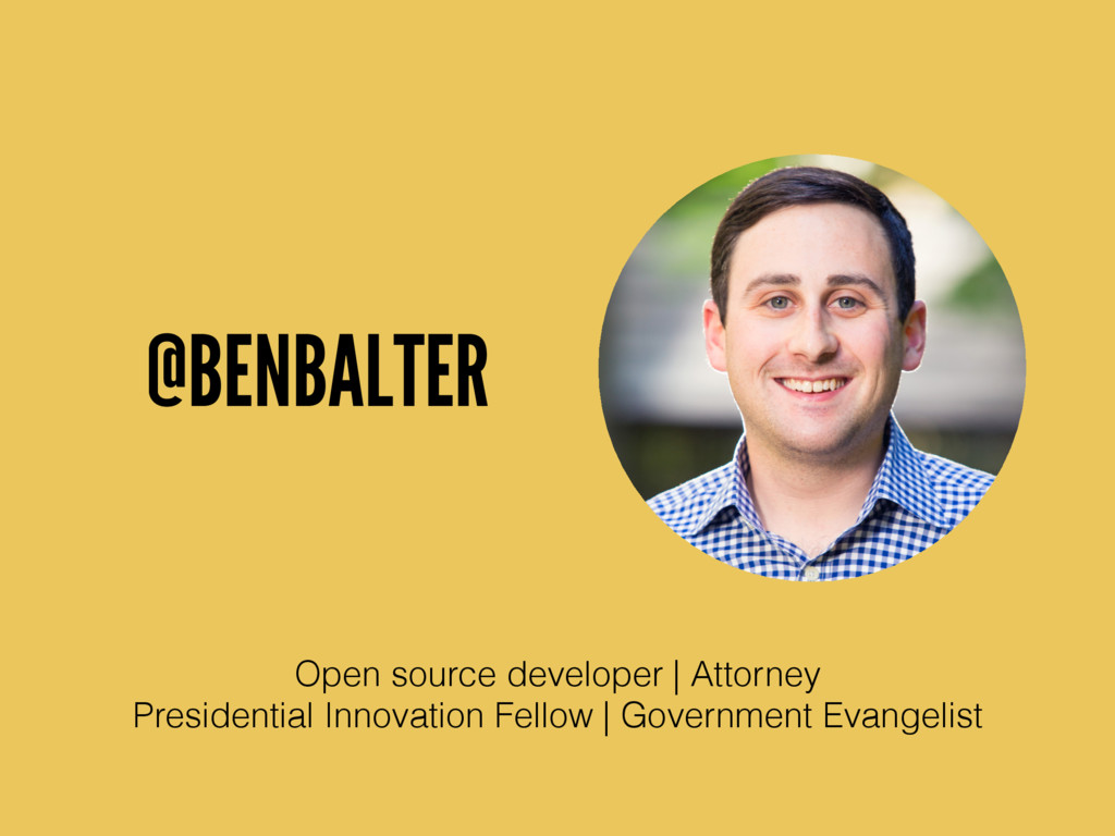 @BENBALTER Open source developer | Attorney Pre...