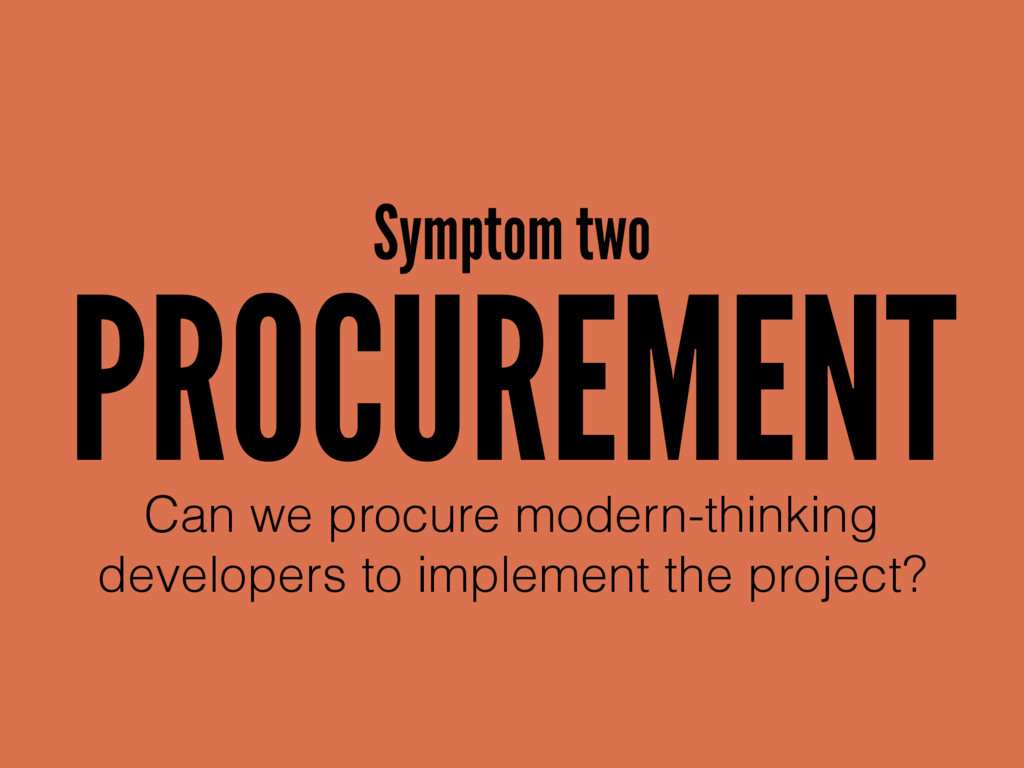 PROCUREMENT Can we procure modern-thinking 
