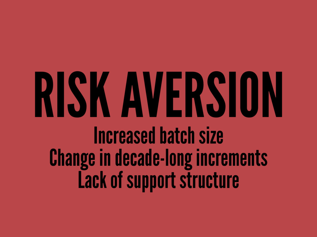 RISK AVERSION Increased batch size Change in de...