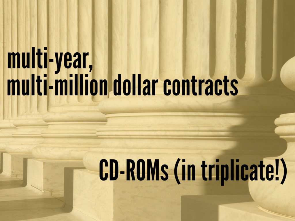 multi-million dollar contracts multi-year, CD-R...