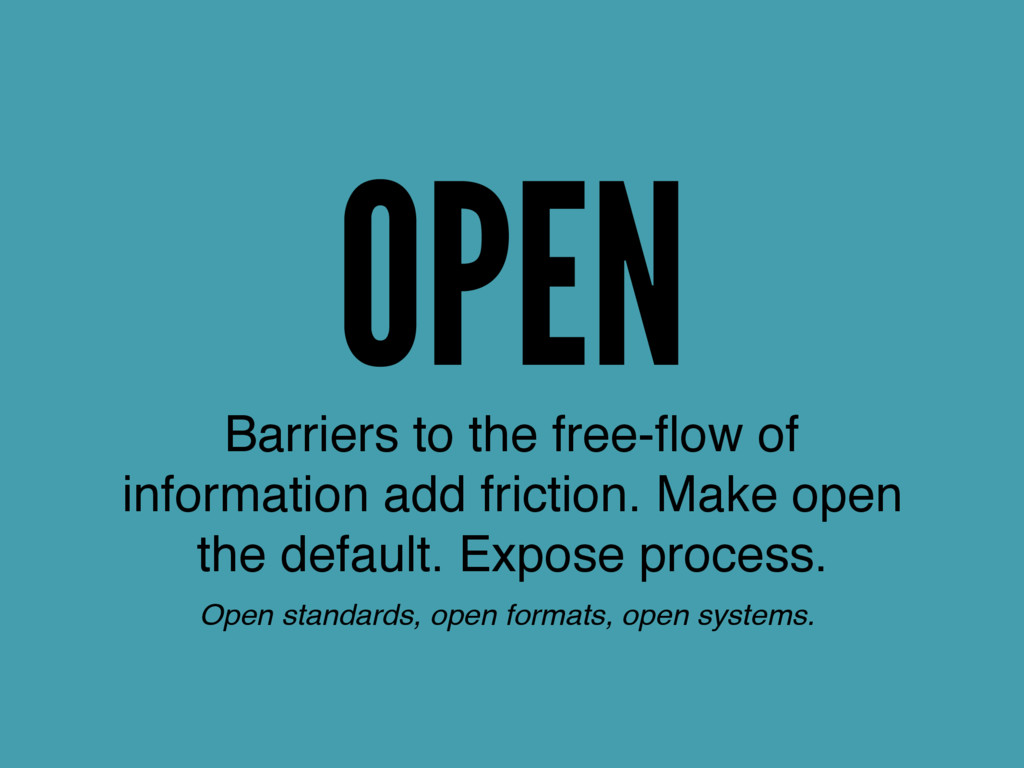 OPEN Barriers to the free-flow of information ad...