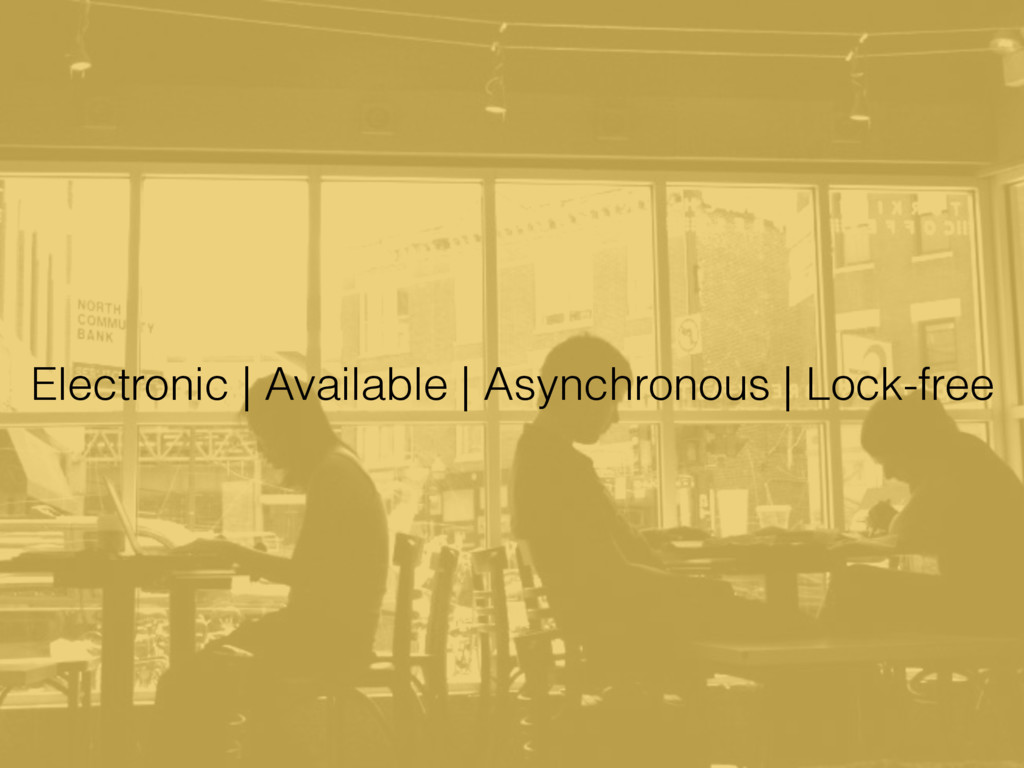 Electronic | Available | Asynchronous | Lock-fr...