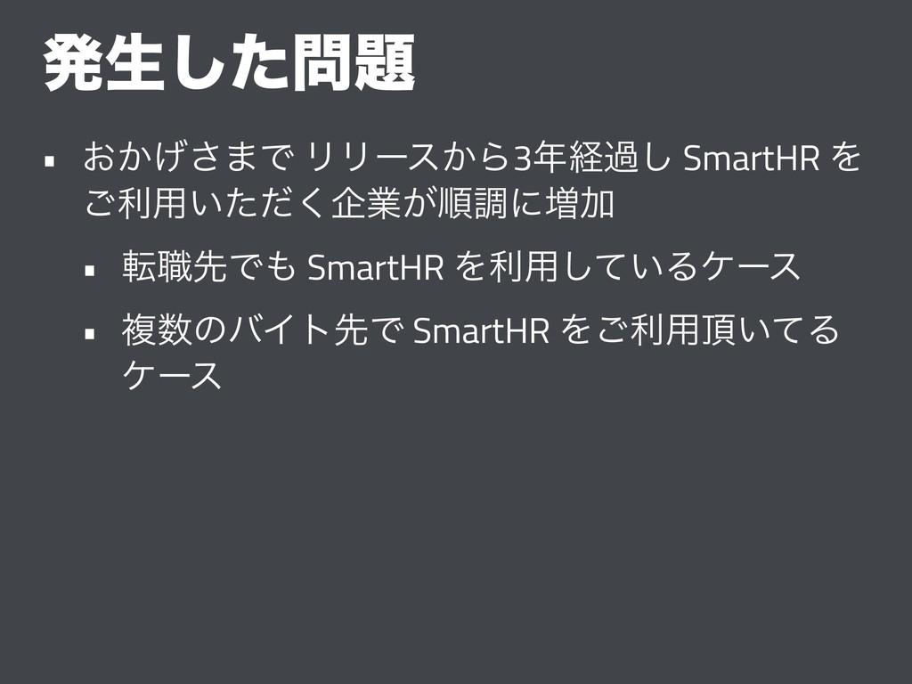 ൃੜͨ͠ • ͓͔͛͞·Ͱ ϦϦʔε͔Β3ܦա͠ SmartHR Λ ͝ར༻͍ͨͩ͘اۀ...