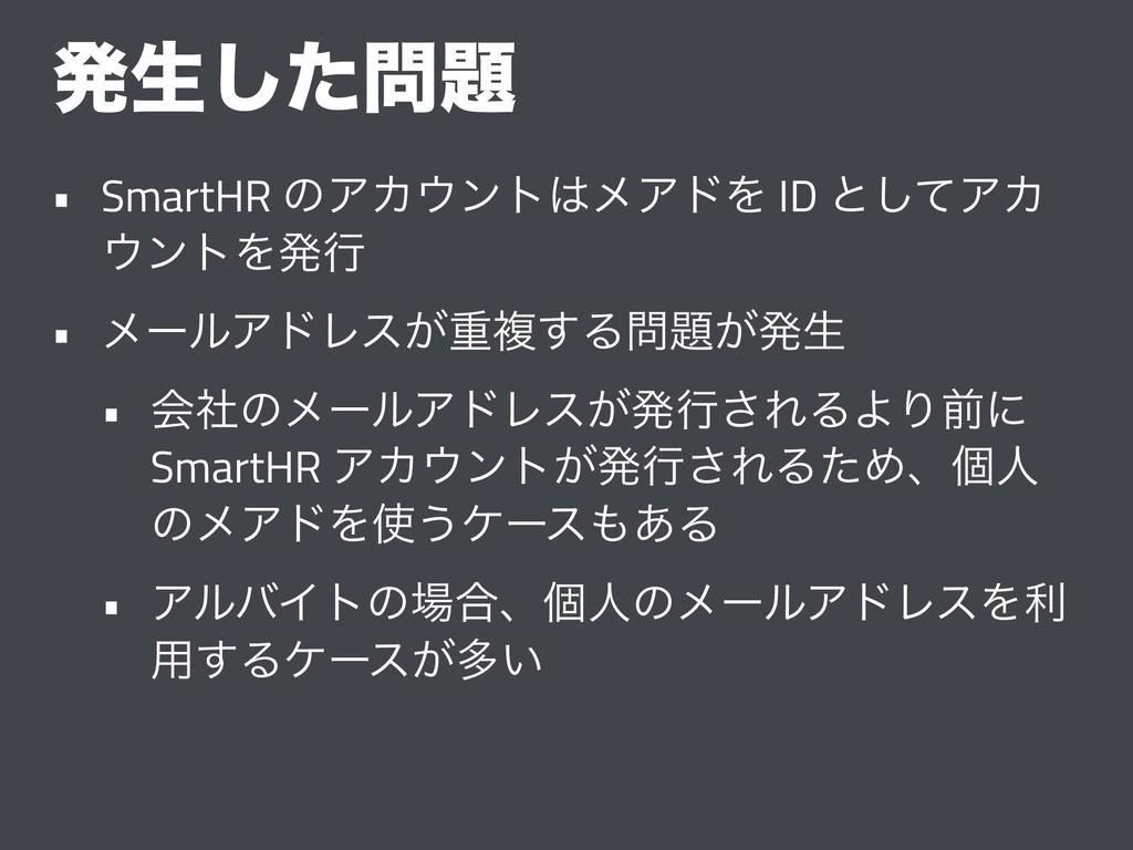 ൃੜͨ͠ • SmartHR ͷΞΧϯτϝΞυΛ ID ͱͯ͠ΞΧ ϯτΛൃߦ • ...