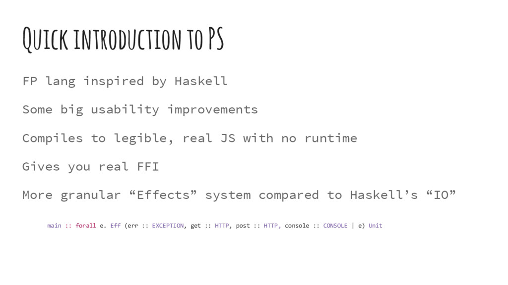Quick introduction to PS FP lang inspired by Ha...
