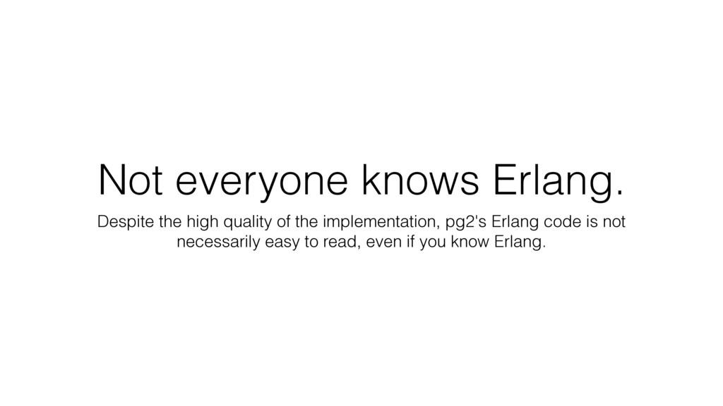 Not everyone knows Erlang. Despite the high qua...