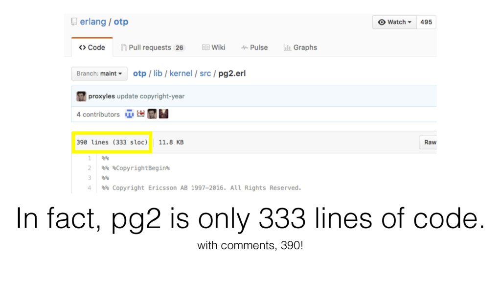 In fact, pg2 is only 333 lines of code. with co...