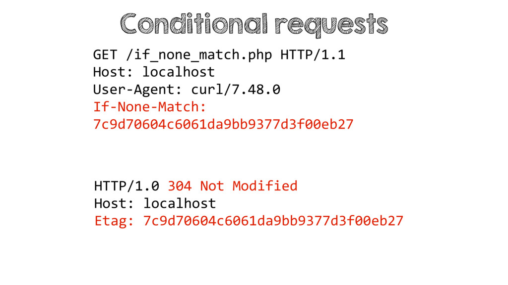 Conditional requests HTTP/1.0 304 Not Modified ...