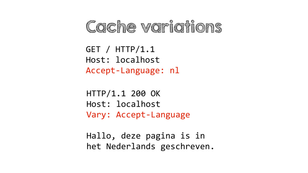 Cache variations GET / HTTP/1.1 Host: localhost...