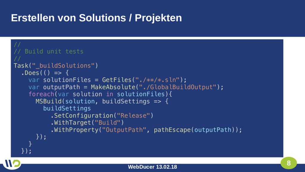 WebDucer 13.02.18 8 Erstellen von Solutions / P...
