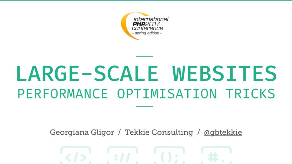 LARGE-SCALE WEBSITES PERFORMANCE OPTIMISATION T...