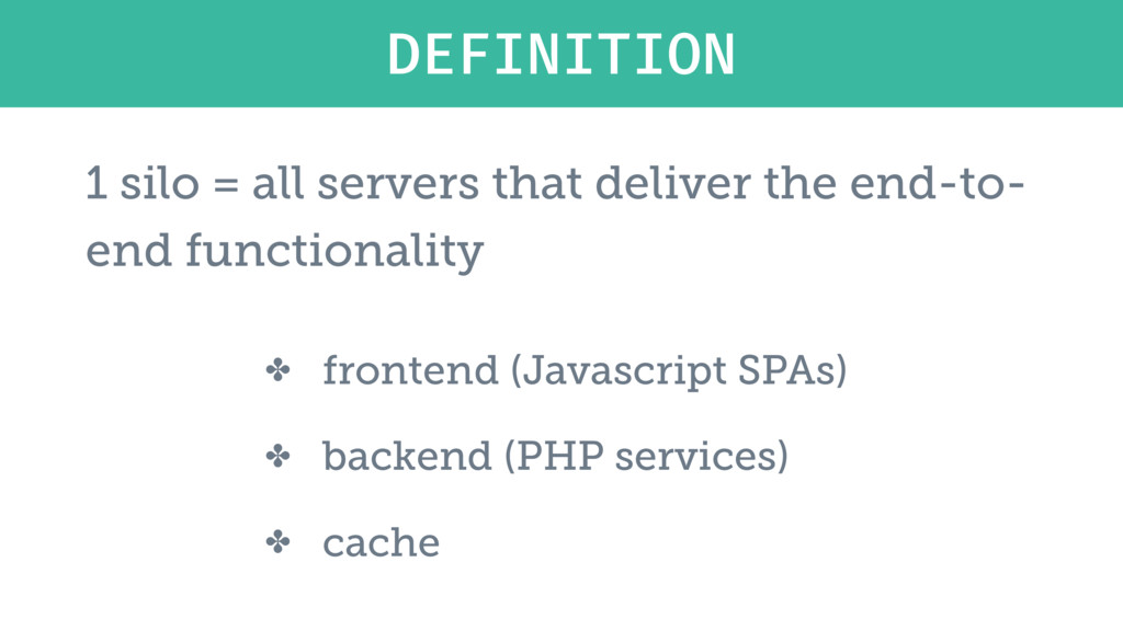 ✤ frontend (Javascript SPAs) ✤ backend (PHP ser...