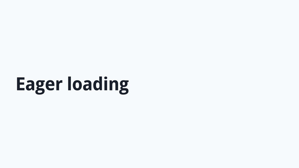 Eager loading