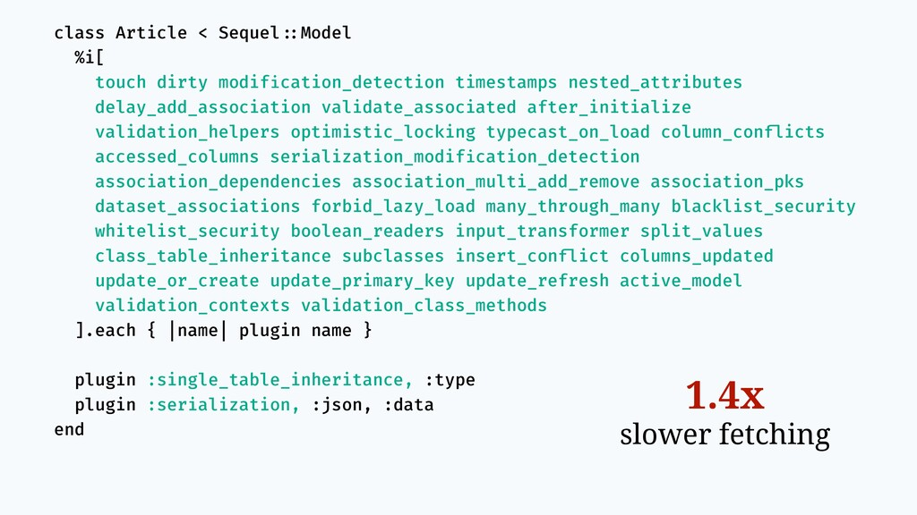 class Article < Sequel!::Model %i[ touch dirty ...
