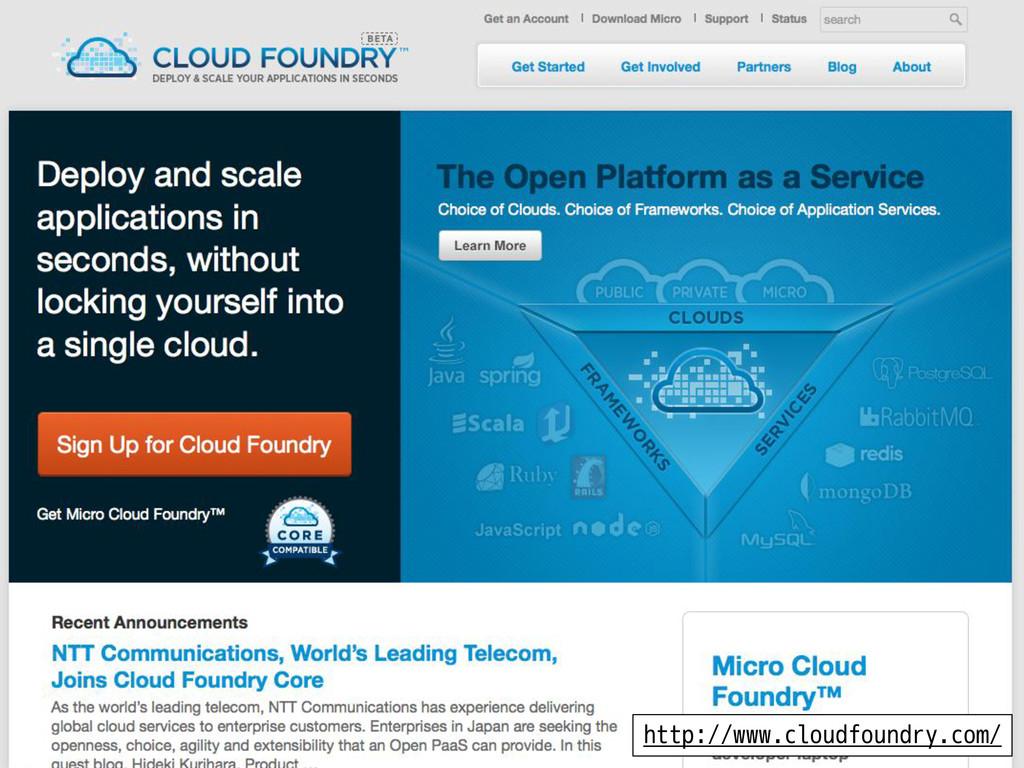 Cloud Foundry WebSite http://www.cloudfoundry.c...