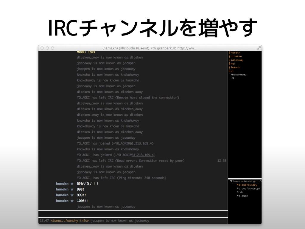 IRCチャンネルを増やす