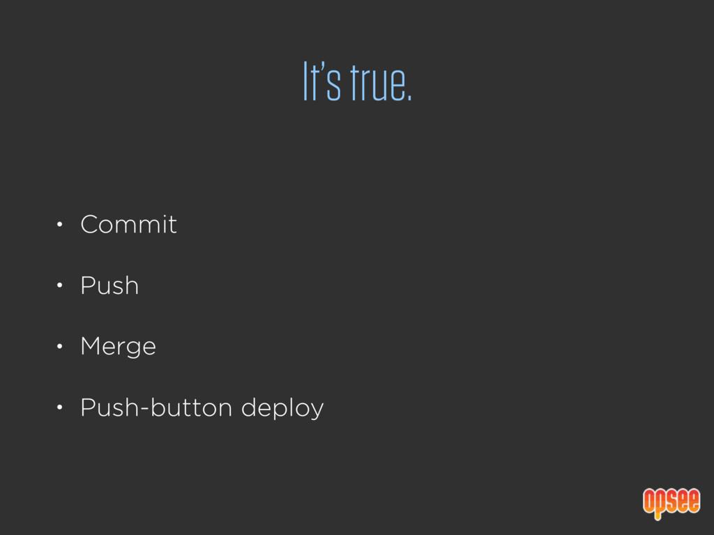 It's true. • Commit • Push • Merge • Push-butto...