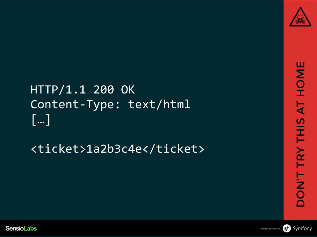 HTTP/1.1 200 OK  Content-‐Type: text/html ...