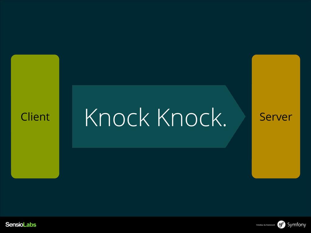 Knock Knock. Client Server
