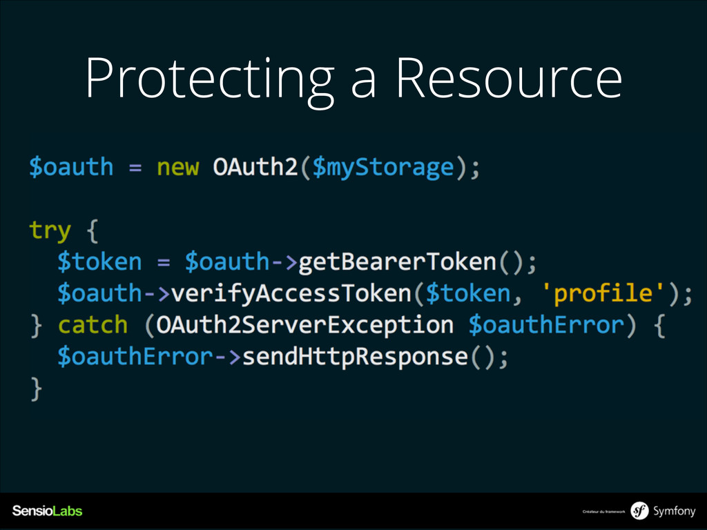 Protecting a Resource