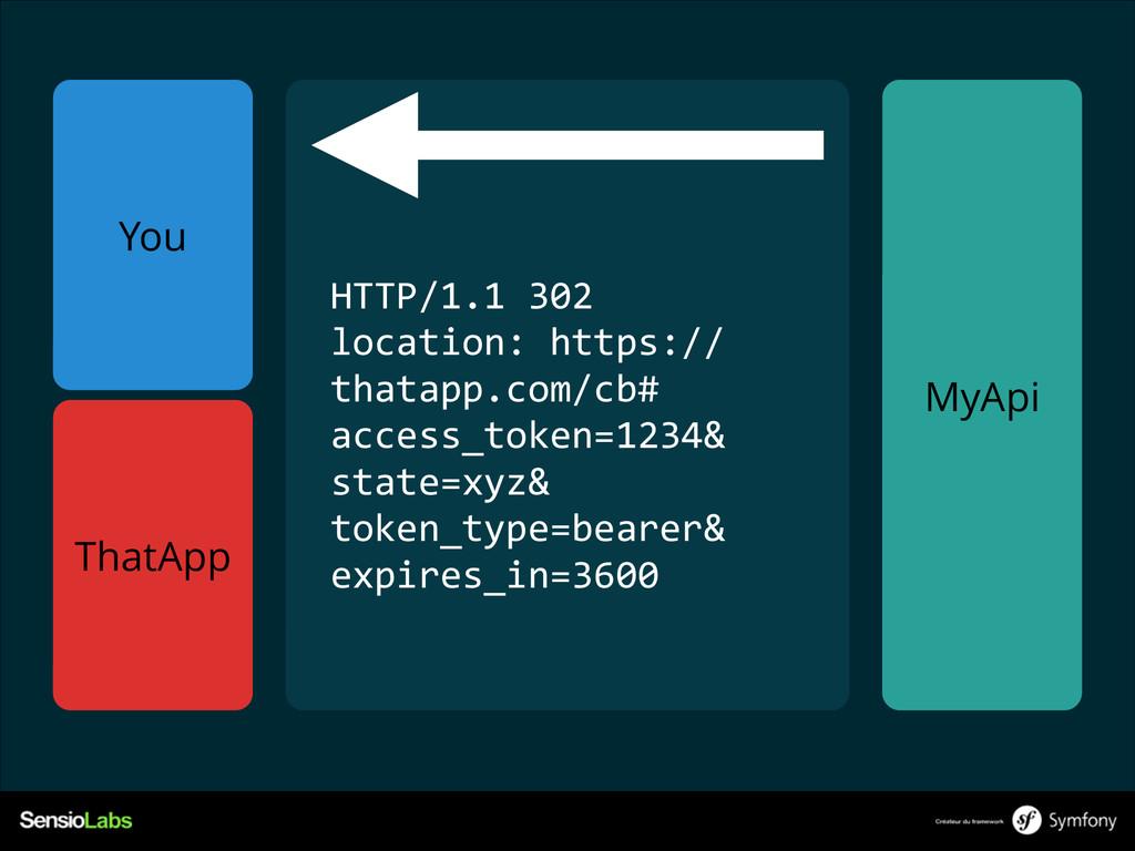 You MyApi ! ! HTTP/1.1 302  location: https:...
