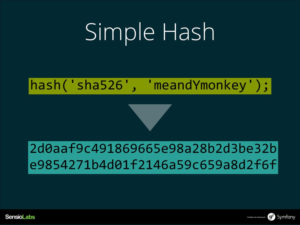 Simple Hash 2d0aaf9c491869665e98a28b2d3be32b e...