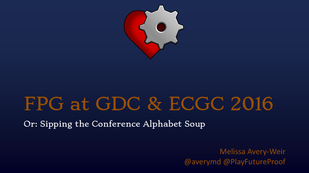FPG at GDC & ECGC 2016 Or: Sipping the Conferen...
